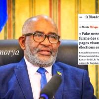 Azali Assoumani accusé de fakenews par la presse française